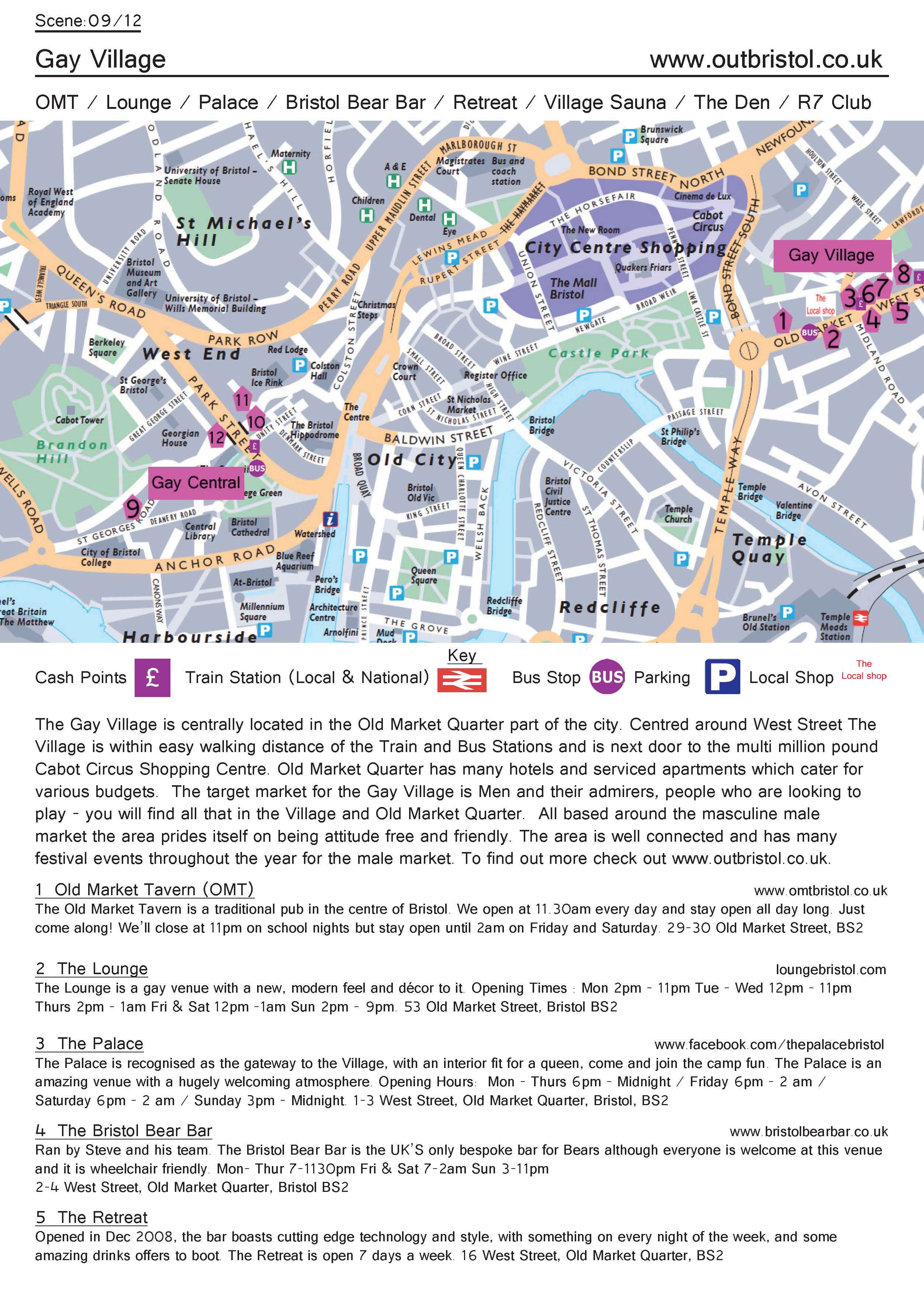 Bristol Gay Scene Map