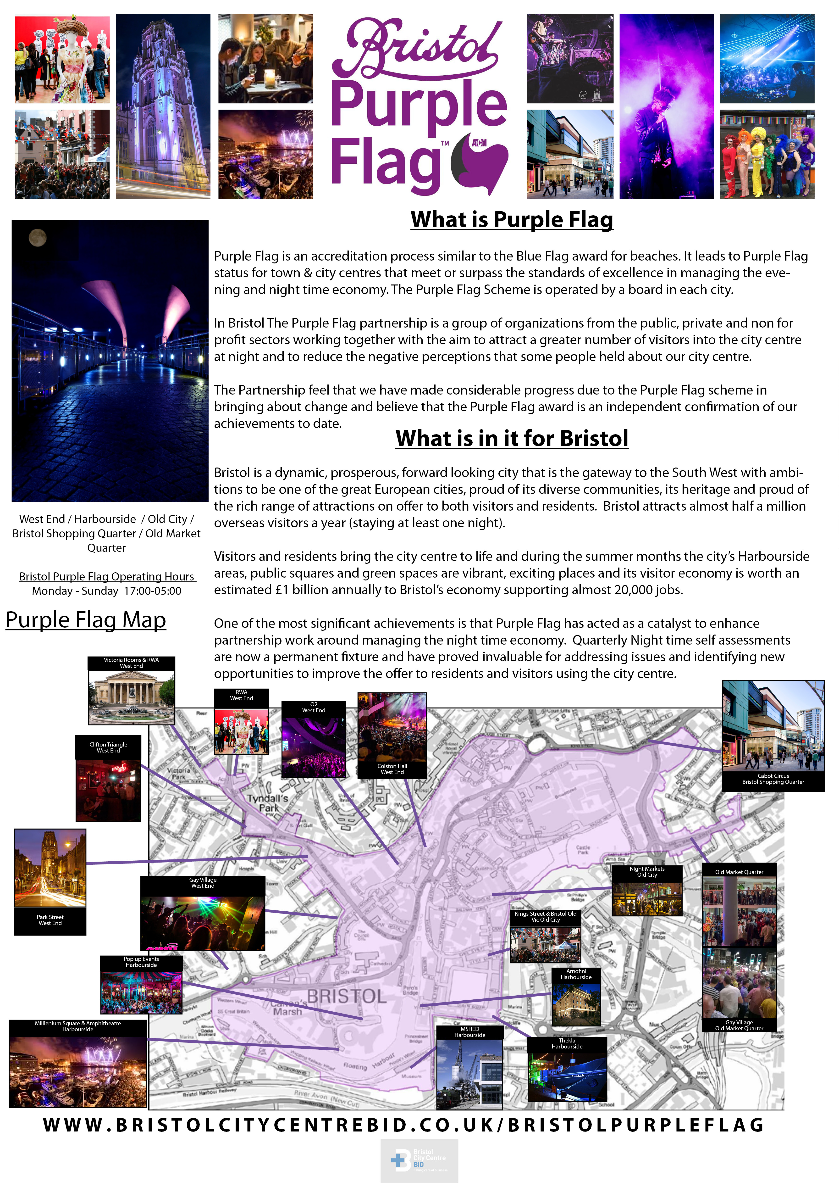 white background about purple flag bid page